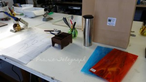 Prepping for a big day - the intermediate panel class at Downey Stained Glass & Gifts | Prairie Telegraph