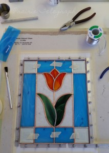 Broken, ground and foiled! My panel is ready to solder. | Prairie Telegraph