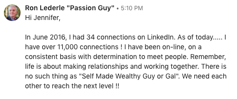 LinkedIn works - make each connection count.
